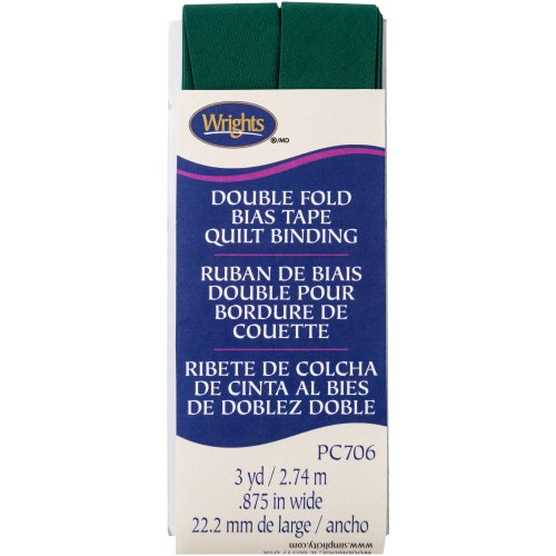 "Wrights Double Fold Quilt Binding .875""X3yd-Hunter"