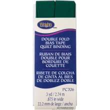 """Wrights Double Fold Quilt Binding .875""""X3yd-Hunter"""