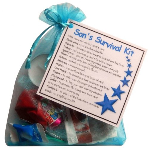 Son's Survival Kit Gift  - Great novelty gift for birthday or christmas