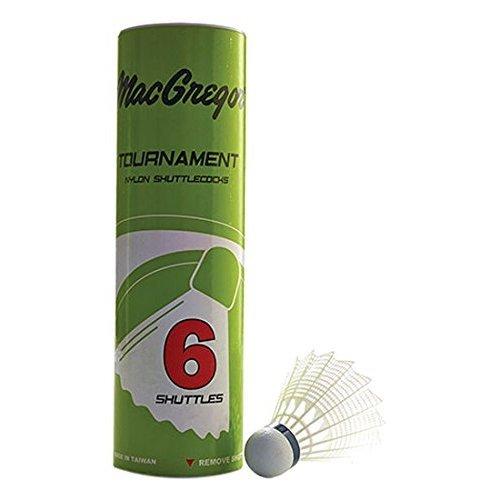 MacGregor Mac Nylon Badminton Birdie 6/Tube