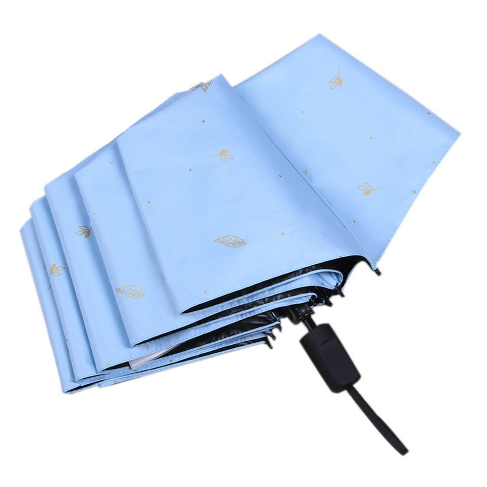 4675bd100f5d Beautiful Sun Umbrella Manual Folding Umbrella Fashion Rain Umbrella Light  Blue