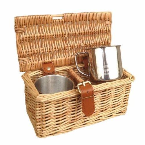 2 Person Mug Tea Coffee Drinks Basket