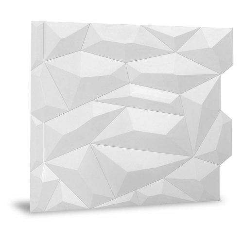 Profhome 3D 705390 Glacier Matte White Decor panel 3D matt white 2 m2