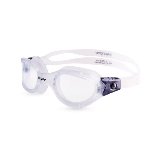 Vorgee Unisex Vortech Max-Clear Lens Swimming Goggles, T.Clear/T.Clear/T.Black, One Size