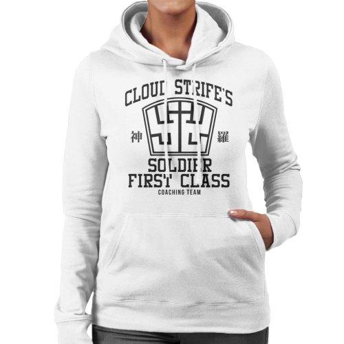 Final Fantasy Cloud Strife Coaching Team Women's Hooded Sweatshirt
