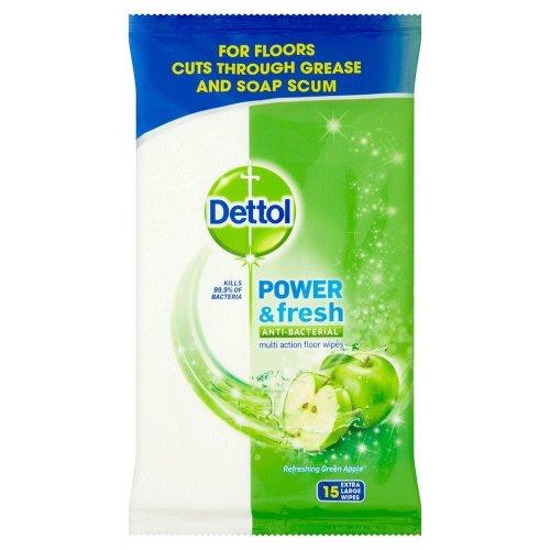 Dettol Clean & Fresh Multipurpose Floor Wipes 15 Extra Large