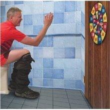 Darts Board Game Toilet Bathroom Target Ball Potty Loo Toilet Boredom Fun Gift