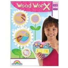 Colorific Wood Worx Door Plate Kit - Make Your Own Arts Crafts Painting Activity -  colorific wood worx door plate make your own arts crafts painting