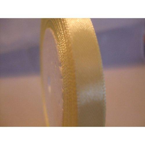 Satin Ribbon Roll - 10mm Wide - 25 Yards (22 Metres) - Cream