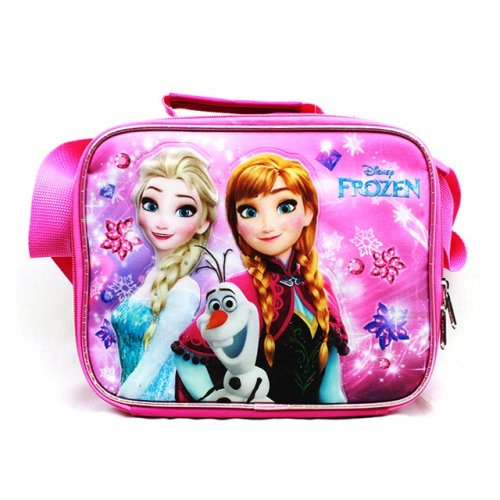 Lunch Bag - Disney - Frozen - Elsa Olaf & Anna Pink New A07972PK