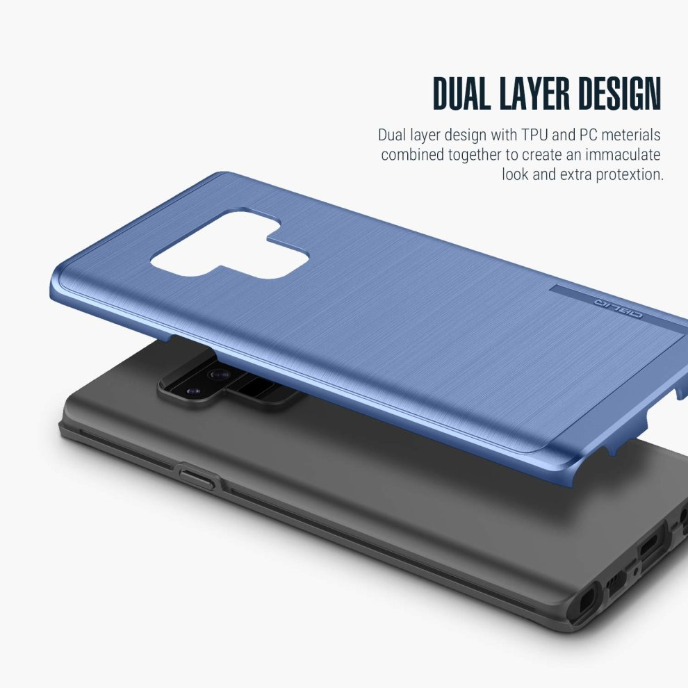 size 40 45470 38401 Obliq Galaxy Note 9 Case, [Slim Meta] Slim Dual Layered Case, Inner TPU  with Outer PC with a Metallic Brushed Finish Design and Anti-Shock...