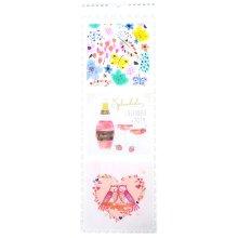 2019 Splendido Illustrated Slim Wall Calendar Christmas Birthday Gift Cute