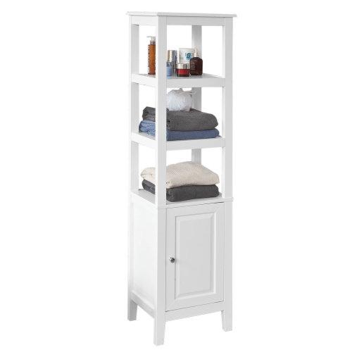 SoBuy® FRG205-W, Floor Standing Tall Bathroom Storage Cabinet Bathroom Shelf