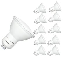 LAMPAOUS 5W LED GU10 LED Spotlight Light Bulb Cool White 6000K, Pack of 10