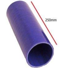 80mm Blue Straight Universal Silicone Hosing - Section 4 Ply Pipe Inside - Blue Universal Straight Section 4 Ply Silicone Hosing Pipe 80mm Inside