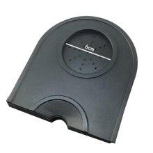 Silicone Rubber Coffee Espresso Tamping Mat  Corner Mat Pad Small [Black]
