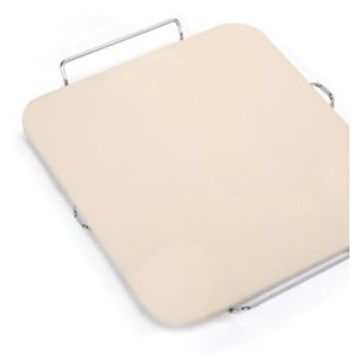 Rectangular Pizza Stone With Metal Rack - Eddingtons Serving -  rectangular pizza stone rack eddingtons serving metal