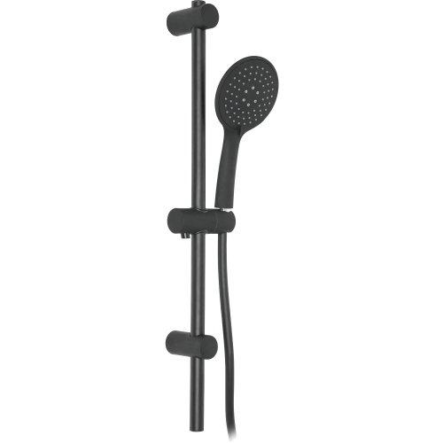 Bathroom Set Showering Column Shower Head Modern Pole Black Powder Coated
