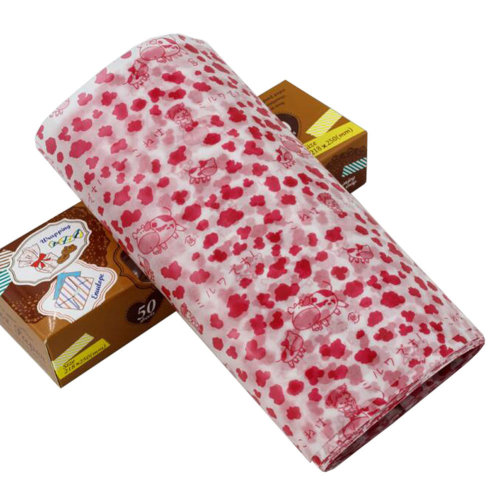 50 PCS Baking Parchment Wax Paper Nougat Candy Wrapper 25X21.8 CM Red