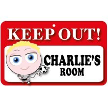 Keep Out Door Sign - Charlie's Room