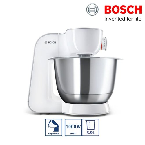 Bosch MUM58200GB CreationLine Kitchen Machine Food Mixer Silver/White