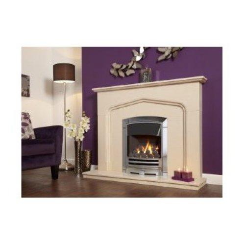 Designer Fire - Flavel FKPCDCSN Silver Decadence Plus Gas Fire - SC