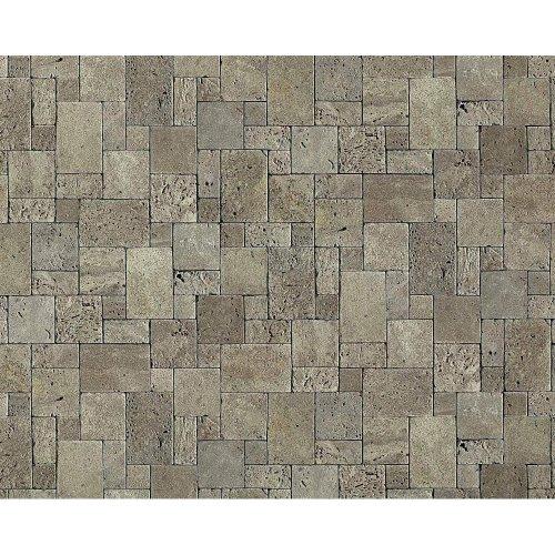 EDEM 957-27 wallpaper non-woven cubes natural brick decor stone-grey | 10.65 sqm