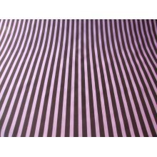 "Funky Stripe Poly Cotton Fabric by the metre - 44"" / 112cm Wide - Brown / Pink"