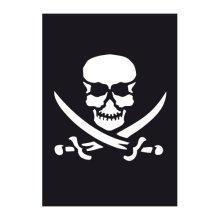 Pirate Airbrush Adhesive Stencil -  pirate airbrush adhesive stencil 70x 100mm skull jolly roger paint