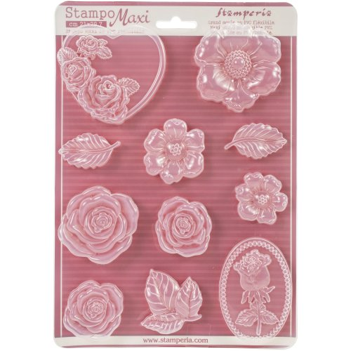 """Stamperia Soft Maxi Mould 8.5""""X11.5""""-Roses"""