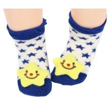 2 Pairs [Star] Infant Toddler Socks Stripe Socks for Baby Kid, 6-18 Months