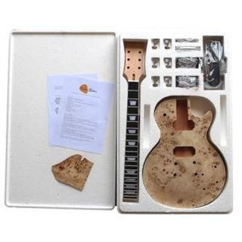 Pop Ash Burl (Arched top) DIY electric guitar kit, 7WMLPPBAS No Soldering Required