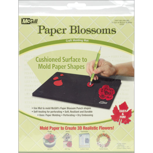 "Paper Blossoms Molding Mat-8.3""X5.8"""