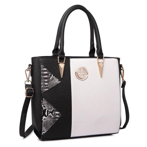 Miss Lulu Women Snake Print Shoulder Handbag Tote Bag