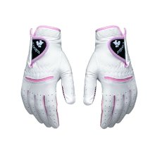 20# Non-slip Women's Golf Gloves Synthetic Leather Pink Both Hand