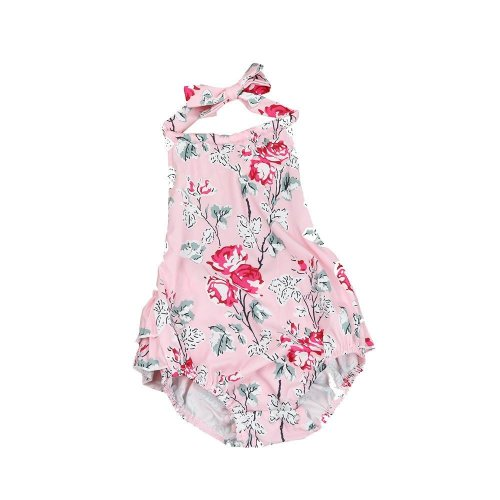 2017 Summer Infant Baby Girls Rompers Floral Sleeveless Newborn Jumpsuit Outfit Baby Girl Clothing Romper Photography Props