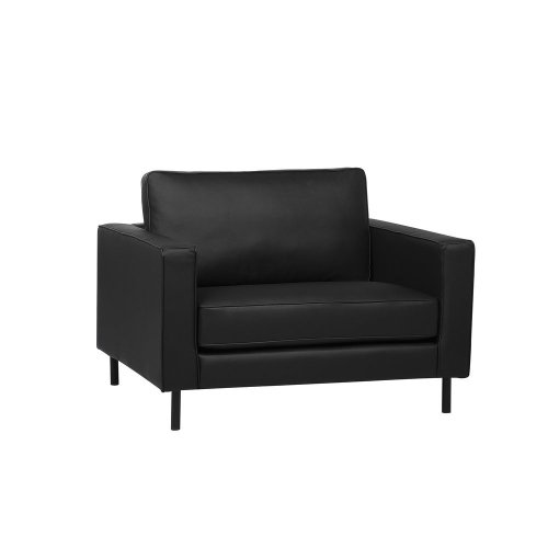Leather Armchair Black SAVALEN
