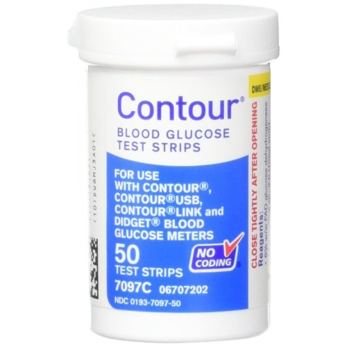 Contour Bayer Blood Glucose, 50 Test Strips