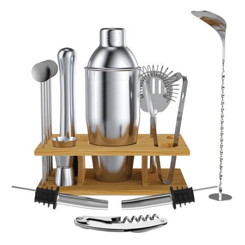 14Pcs Cocktail Shaker Bar Set Stainless Steel Bartender Accessories