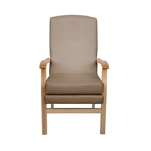 MAWCARE Deepdale Ortopaedic High Seat Chair - 17 x 23 Inches [Height x Width] in Richmond Mushroom (lc48-Deepdale_r)