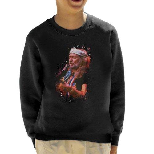 TV Times Willie Nelson Live Paint Splatter Kid's Sweatshirt