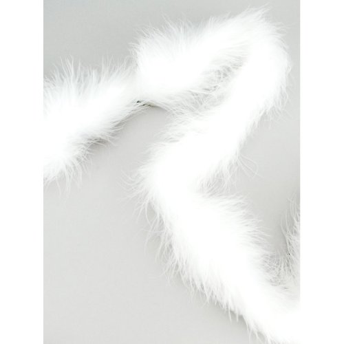 "Zucker Marabou Feather Boa Solid Color Heavyweight 72""-White"