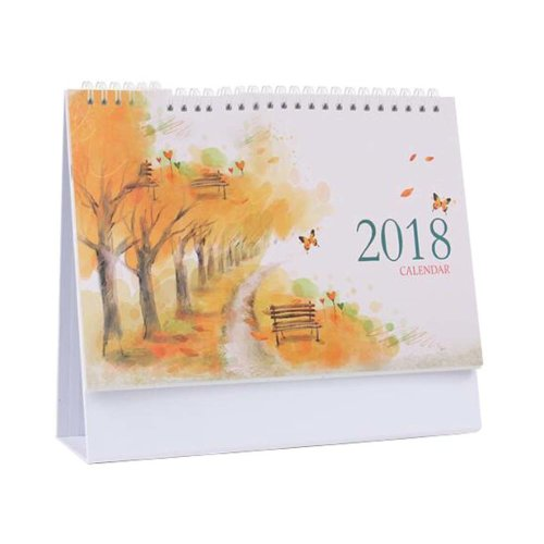 Scenery Style 2018 Office Calendar Notebook/Monthly, Weekly, Daily-Autumn