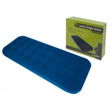 Single Soft Flocked Airbed - x Summit -  single airbed x flocked summit