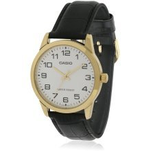 Casio Leather Mens Watch MTP-V001GL-7BUDF