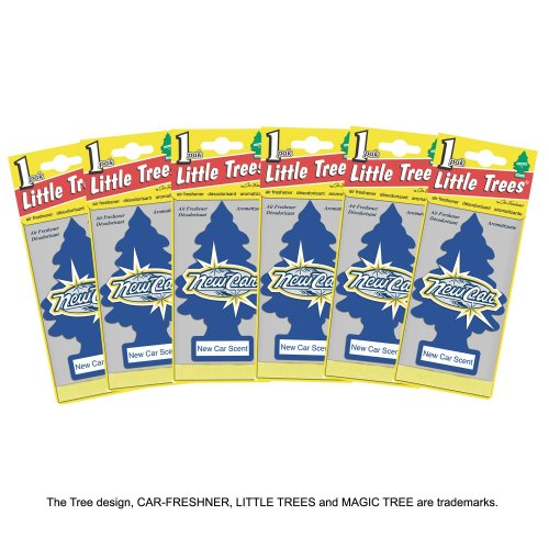 Little Trees MTZ02 Air Fresheners New Car Scent, 6 Pieces