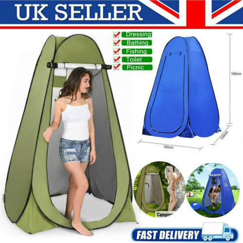 New Portable Instant Pop Up Outdoor Camping Shower Tent Toilet with Carry Bag UK