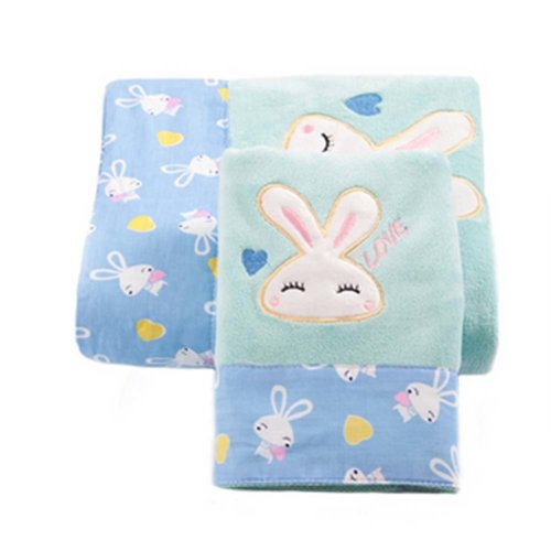 Baby Rabbit Strong Absorbent Bath Towels Sets(Multicolor)