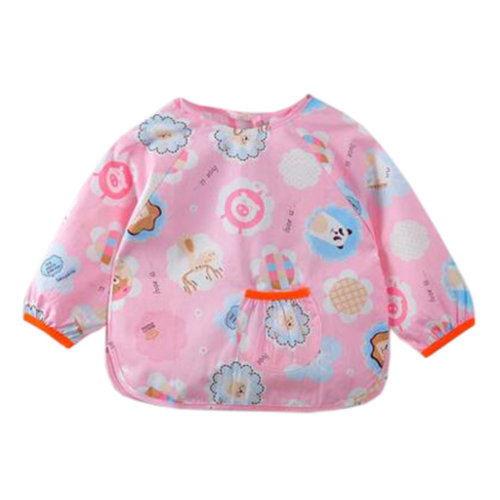 Lovely Baby Bibs Feeding Bib Kid's Apron Overclothes Waterproof Long Sleeves Art Smock NO.02
