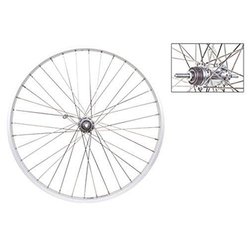Wheel Master Rear 26 x 1 75 Alloy Silver Shimano E 100 CB 12g SS Spokes 36H